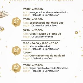 Calendario de actividades para este fin de semana